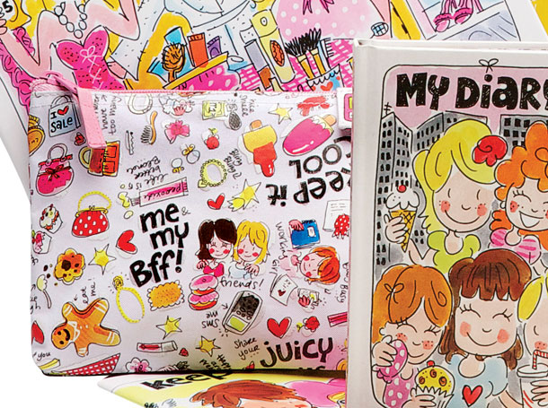 Studio Barbara Vos | Designs of Blond Amsterdam bags and pencilcases 2012 Back to school for New Edition