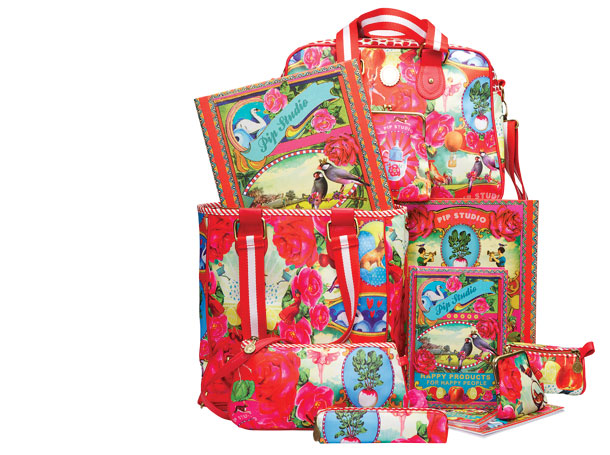 Studio Barbara Vos | Design Pip Studio bags and pencilcases 2012 Back to school for New Edition