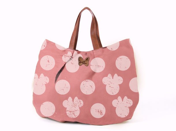 Studio Barbara Vos | Disney Minnie Bag Red Denim All over print for ITC