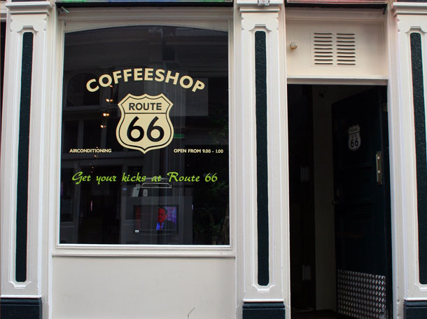 coffeeshop amsterdam interior design route 66