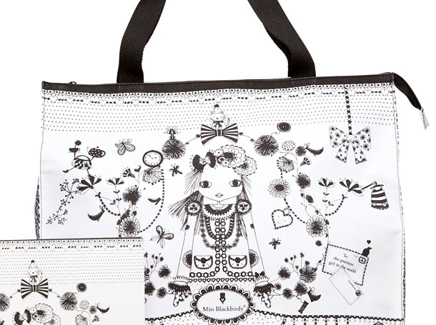 Studio Barbara Vos | Design Miss Blackbirdy bags and pencilcases 2012 Back to school for New Edition
